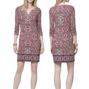 WHBM Embroidered Paisley Knit Shift Dress